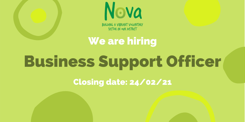 We are recruiting - Business Support Officer