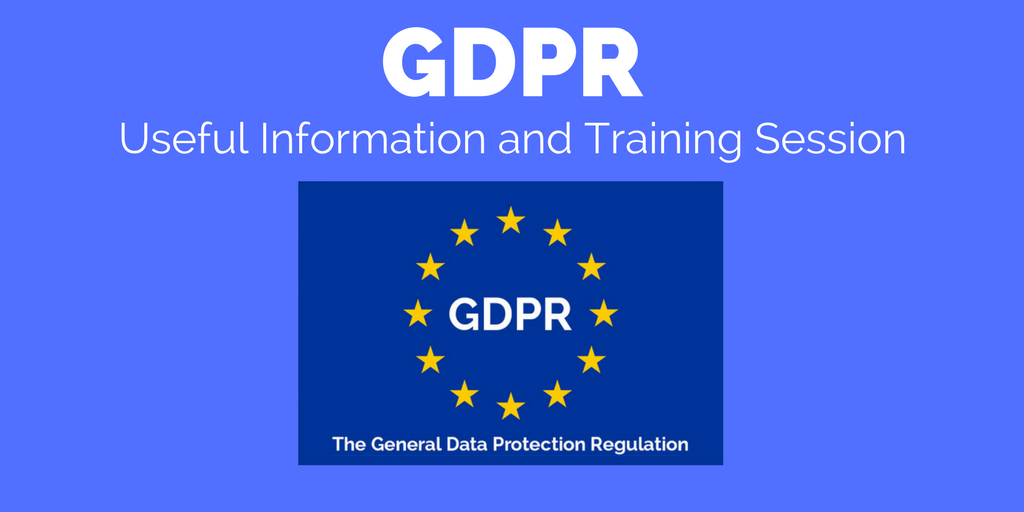 GDPR - Useful Links and Training Session