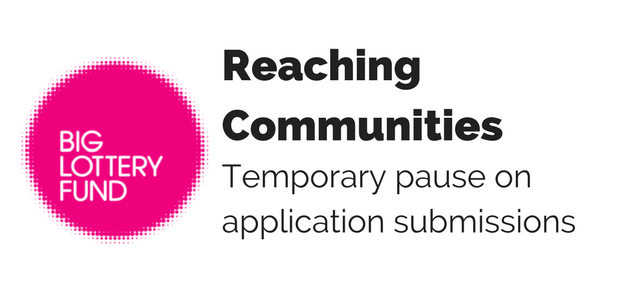 Reaching Communities - Temporary pause on application submissions